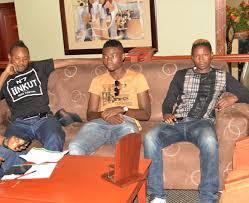 Rainford Kalaba, stopilla Sunzu and Nathan Sinkala'