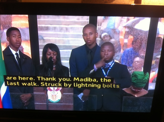South Africa: You Won't Believe What Mandela's Fake Sign Language Interpreter Was Actually Saying [Video]