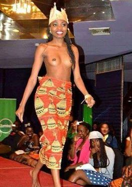Zambia: Finalist Charity Mwanza Appears Topless At Miss Freedom Beauty Pageant.