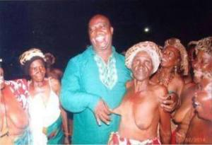 Zambian Musician Pontiano Kaiche Condemned for taking Photo Holding Old Woman's Nipple