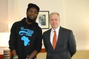 Pilato with US envoy Eric Schultz